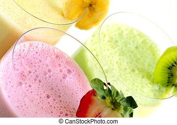 smoothies, fruit, geassorteerd
