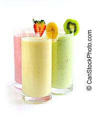 smoothies, fruta