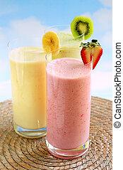 smoothies, frutta, assortito