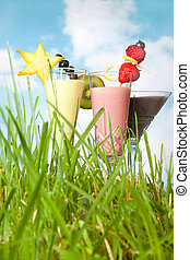 Smoothies in the garden