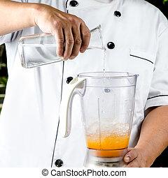 smoothies, jus orange