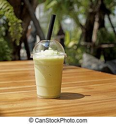 smoothy cantaloupe melon juice - smoothy cantaloupe melon...