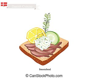 Smorrebrod with Roast Beef The National Dish of Denmark