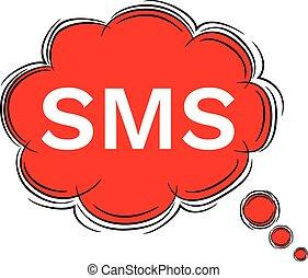 sms., いたずら書き, イラスト, ベクトル, スピーチ, eps8, 泡
