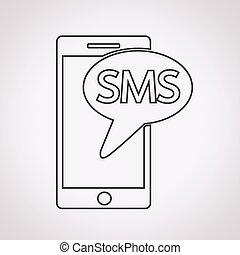 sms, アイコン