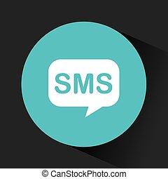 sms, スピーチ泡