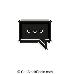 sms, チャット, モビール, テキスト, -, vector., メッセージ, アイコン