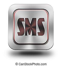 Sms aluminum glossy icon