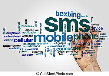 sms, begrepp, ord, moln