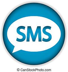 Sms blue web icon