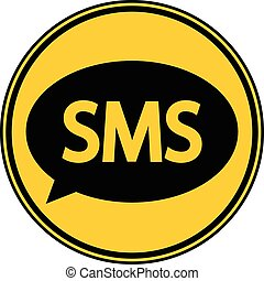 sms, button.
