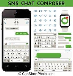 sms, chiacchierata, compositore