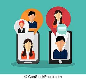 sms, desenho, ícone
