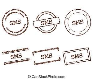 sms, francobolli