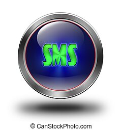 Sms glossy icon #01