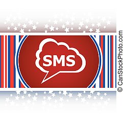 sms glossy web icon isolated on white background vector