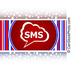 sms glossy web icon