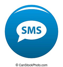 SMS icon blue