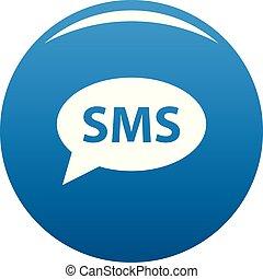 SMS icon blue vector