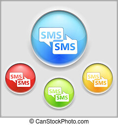 SMS Icon, vector eps10 illustration