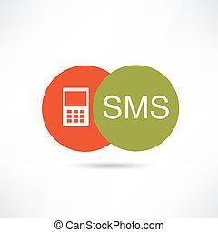 sms, icono