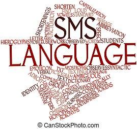 sms, język