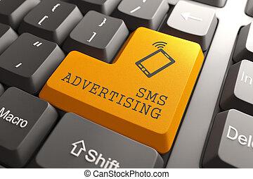 sms, publicidad, button.