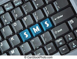 sms, teclado