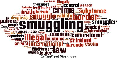 Smuggling word cloud
