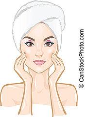 smuk kvinde, kurbad, massage