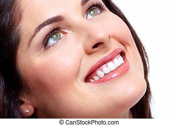 smuk kvinde, smile.