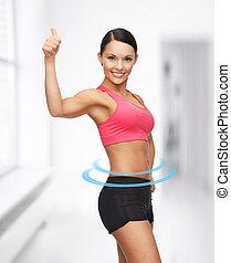 smuk kvinde, sportsmæssige