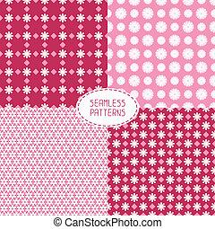 smukke, blive, sæt, fabric, scrap, trykning, patterns.,...