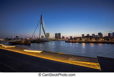 smukke, Bro,  netherlands,  Image,  Rotterdam, Berømte,  erasmus, Flod, Hen,  meuse