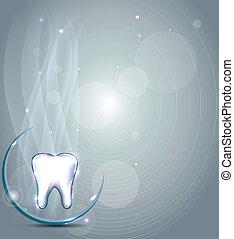 smukke, dentale, konstruktion, afdækket