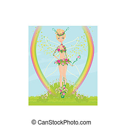 smukke, fairy, blomst