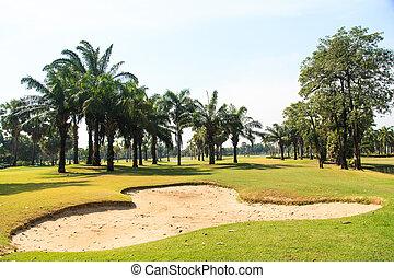 smukke, golf kurs