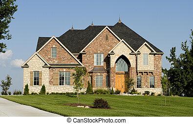 smukke, hjem, eller, hus