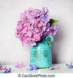 smukke, hydrangea, blomster