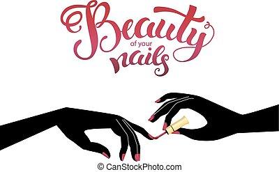 smukke, illustration, manicure