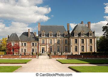 smukke, provence, chateau, gamle, frankrig