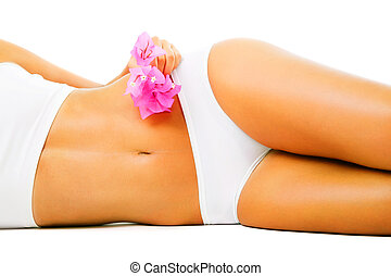 smukke, slank, kvindelig krop