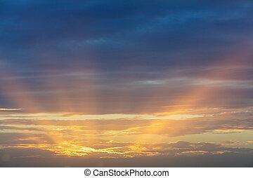 smukke, solnedgang, hen, middelhavet hav