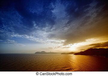 smukke, solnedgang