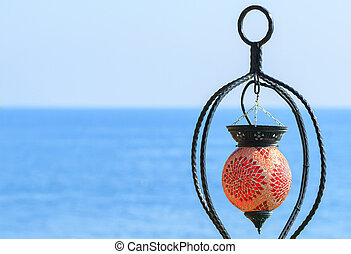 smukke, tyrkiet, dekoration, lanterne