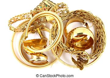 smycken, guld