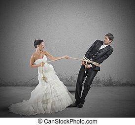 snärjet, av, äktenskap