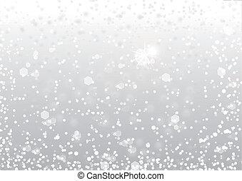 snö, bakgrund, abstrakt