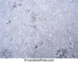 snö, hagel