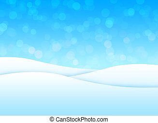 snö landskap